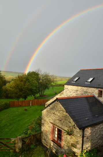 Double rainbow over Cider Cottage